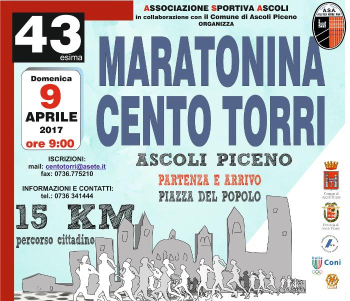 43 Edizione Maratonina 100 Torri