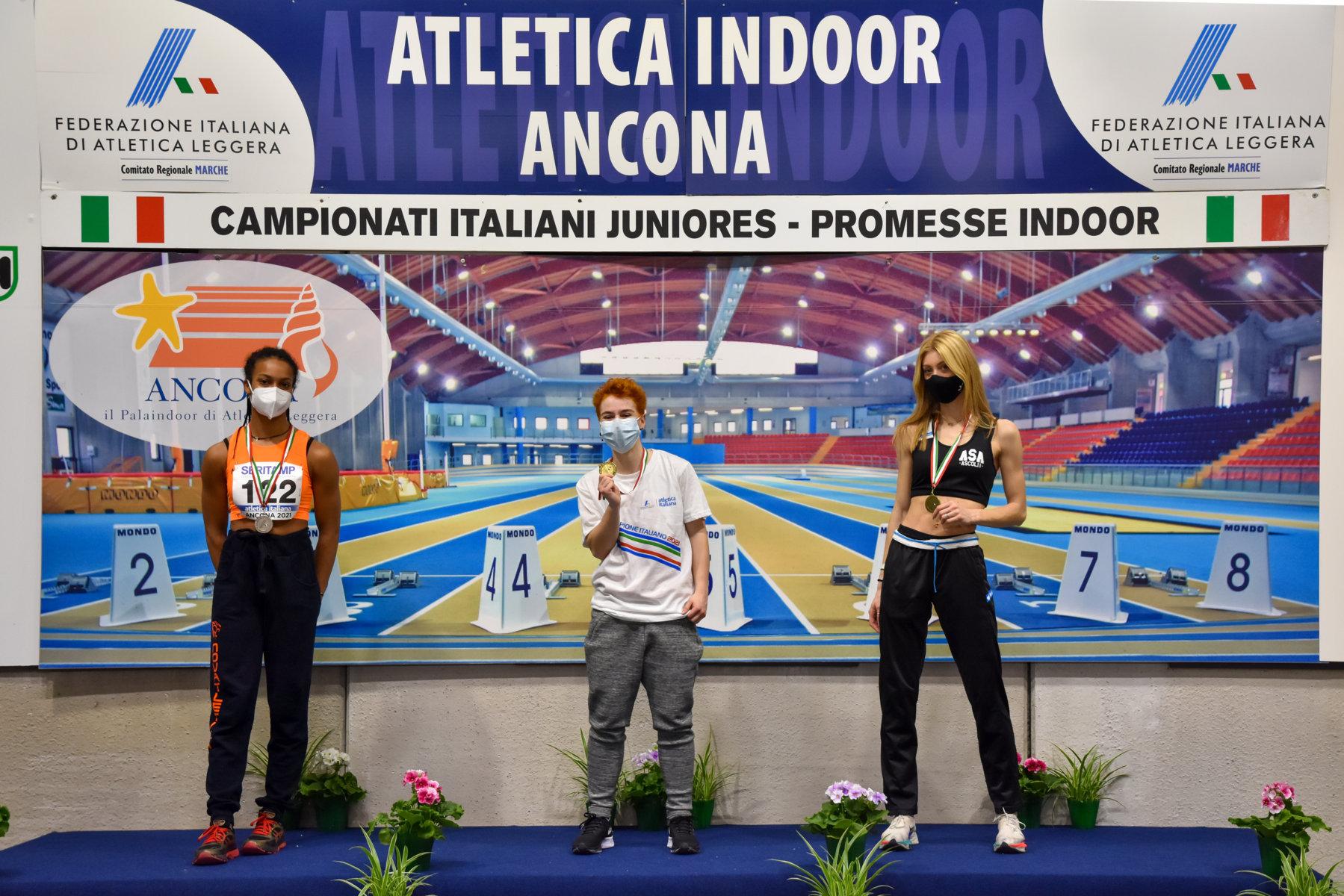 Bronzo per Angelini nei 60 ai Campionati Italiani Junior